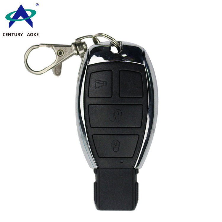 Remote control manufacturer supplies 433MHz metal shell to copy wireless remote control, four key anti-theft alarm remote control