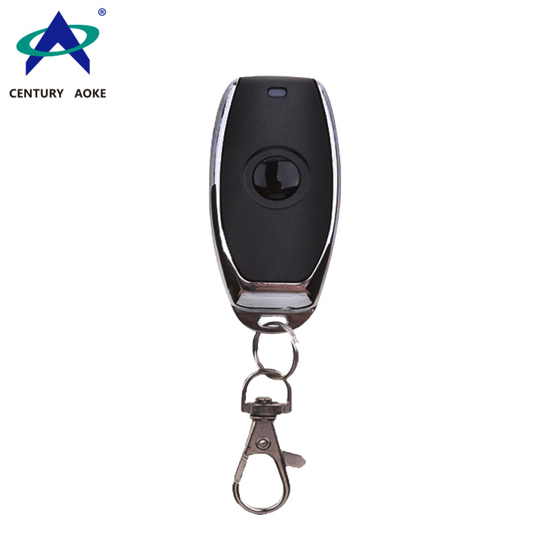 Metal frame Mini 315MHz/433MHz one button RF remote control with keychain