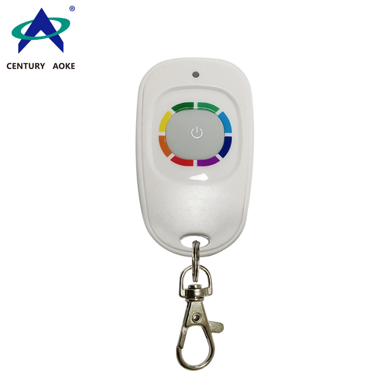 315MHz/ 433MHz  DC 6V oval plastic shell one button mini RF remote control with keychain