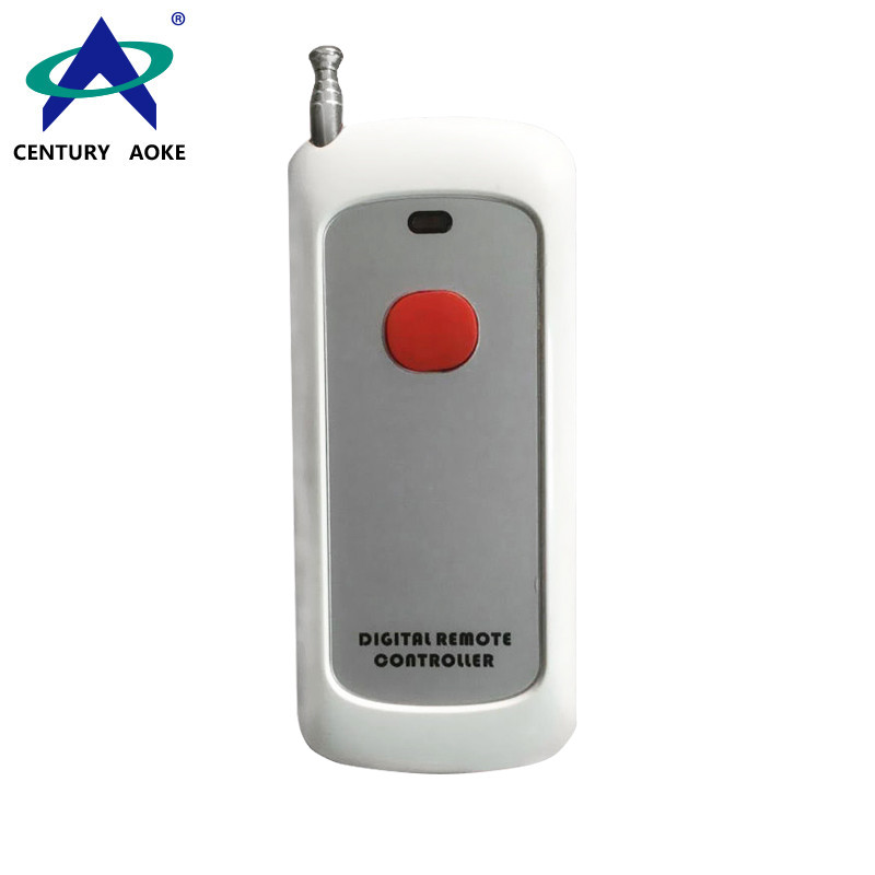 White plastic shell 1000 meters one button 315Mhz/433Mhz wireless remote control