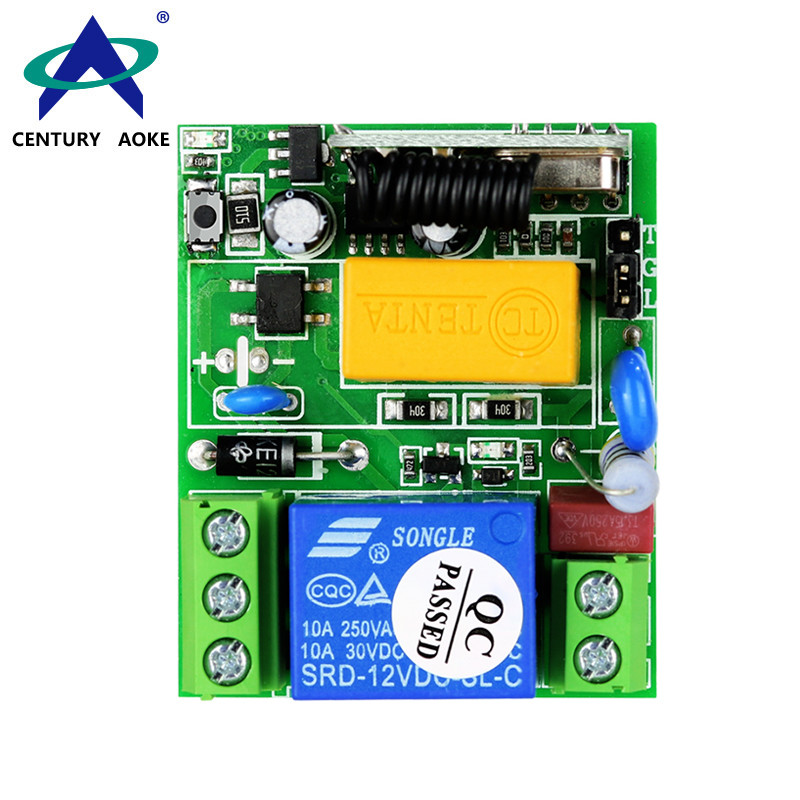 AC220V 1 Channel Digital Applications Gate Switch Remote Controller With Wireless Remote Controller Switch  AK-RK01SP-220
