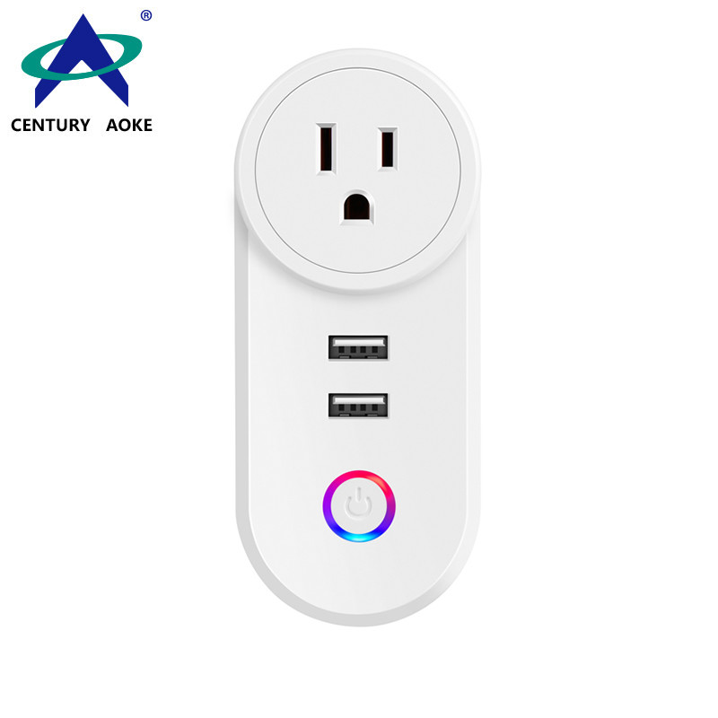 US Smart Socket 110V~240V 10A WIFI 2.4GHz APP Control (Android&IOS) Amazon Echo Google Home IFTTT Residential Smart Outlet AK-P21W-04F
