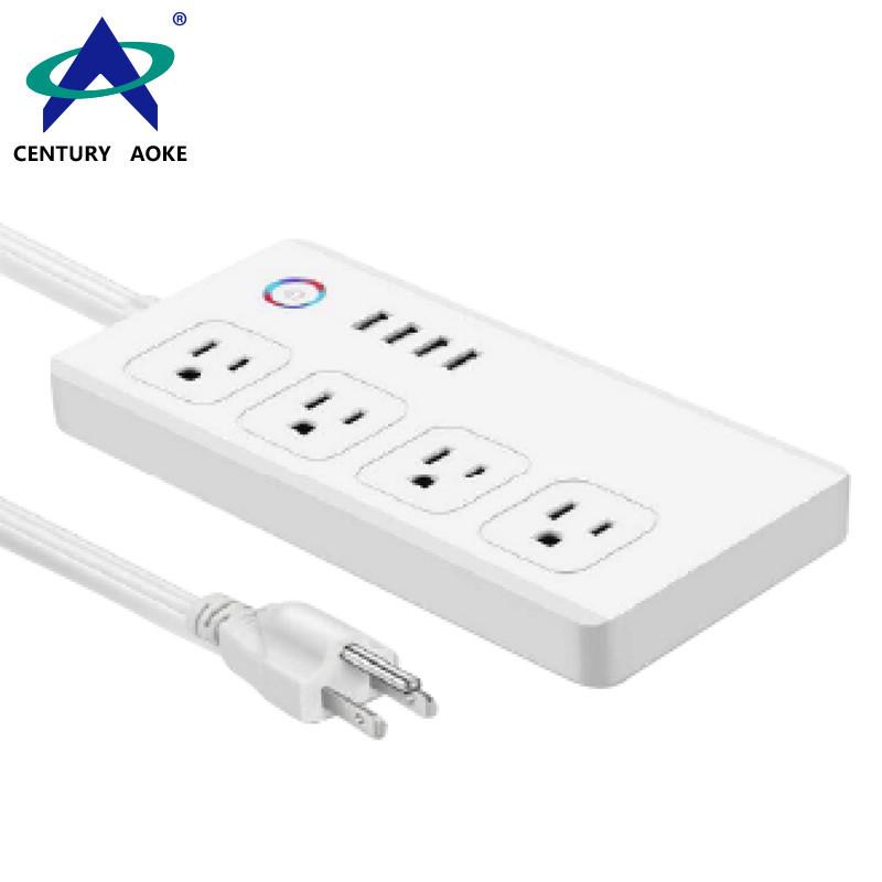 US Smart Socket 110V~240V APP Control Residential General-purpose Application Smart Power Plug AK-P24W-01F