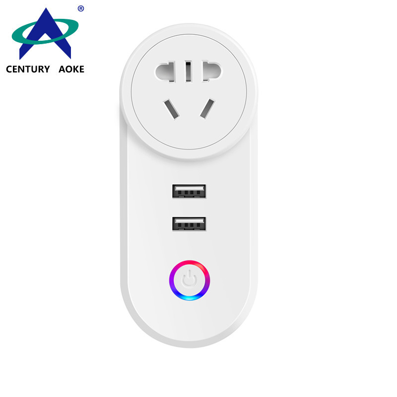 GB Smart Socket 110V~240V10A WIFI 2.4GHz Timing Grouping Sharing Voice APP Control (Android&IOS) Residential AK-P01W-04D