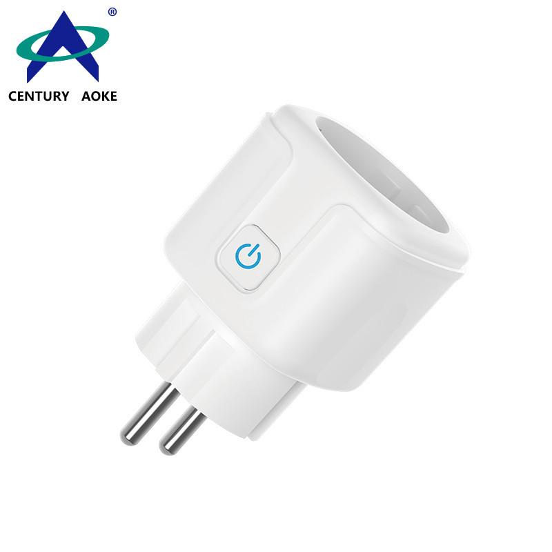 EU Smart Socket 110V~240V 10A WIFI 2.4GHz Amazon Echo Google Home APP Group Control (Android&IOS) Residential Plug Socket AK-P11W-06F