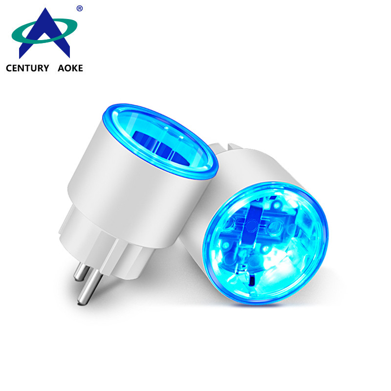 EU Smart Socket 110V~240V 10A WIFI 2.4GHz APP (Android&IOS) Timing Sharing Control Residential Outlet Plug AK-P11W-08F