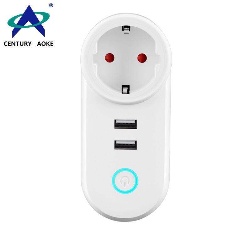 EU Smart Socket 110V~240V 10A WIFI 2.4GHz APP Control (Android&IOS) Amazon Echo Google Home IFTTT Residential Plug Socket AK-P11W-04F