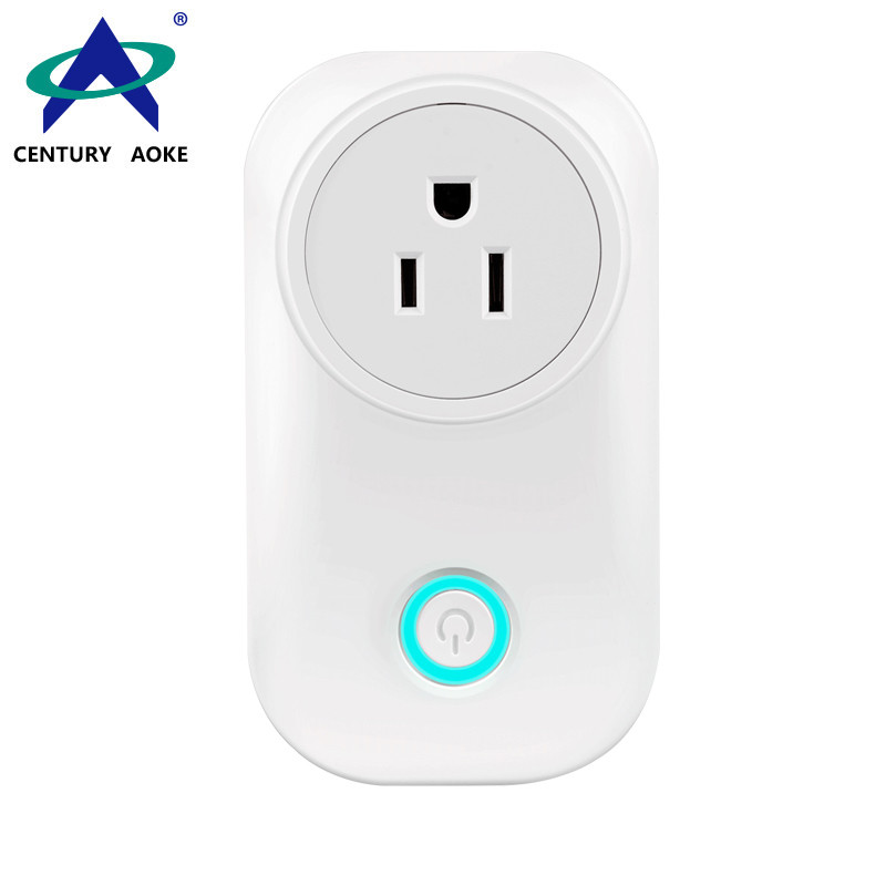 US Smart Socket 110V~240V 10A WIFI 2.4GHz APP Control (Android&IOS) Amazon Echo Google Home IFTTT Residential Outlet AK-P21W-03F