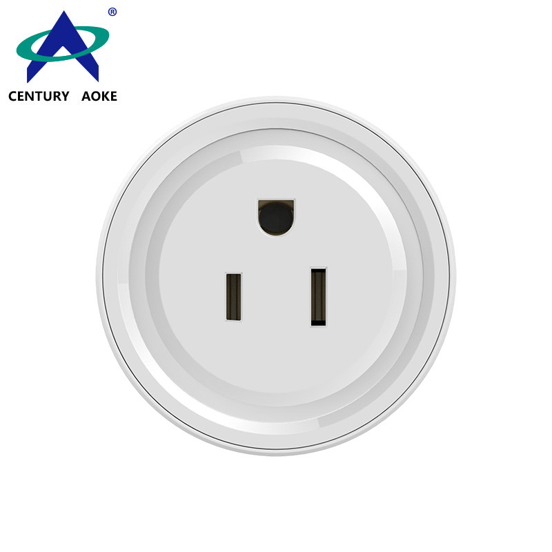 US smart socket 110V~240V 10A Google Home Voice Control APP (Android&IOS) Support Timing WIFI Residential power plug AK-P21W-07F