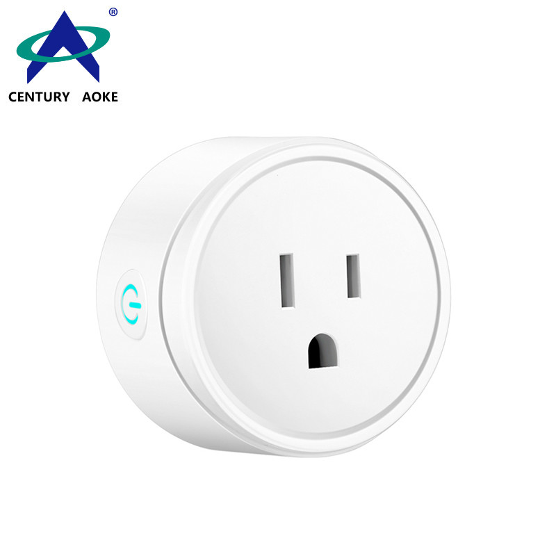 US Smart Socket 110V~240V 10A WIFI 2.4GHz APP Control (Android&IOS) Amazon Echo Google Home IFTTT Residential Wireless Power Outlet AK-P21W-09F