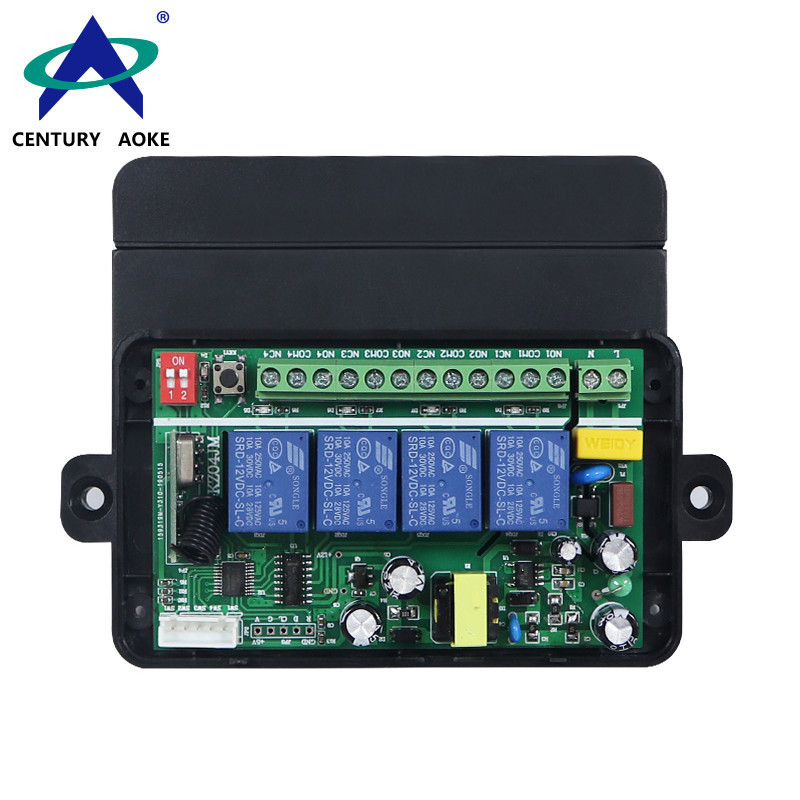 AC85V-256V 4 Channels Universal Electric Doors Windows Lifting Equipment Security RF+manual Remote Controller Switch AK-KZ04JM