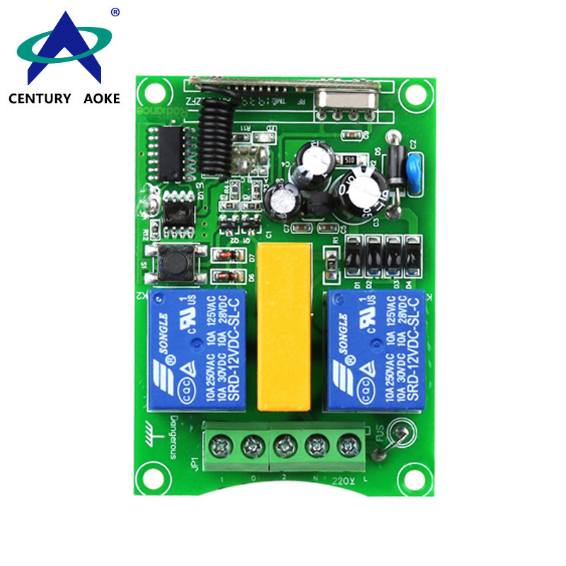 AC220V 2 Channels 1500W Motor Forward And Reverse Lamps Barriers Electric Doors Wireless Remote Controller Switch  AK-DJZFZ