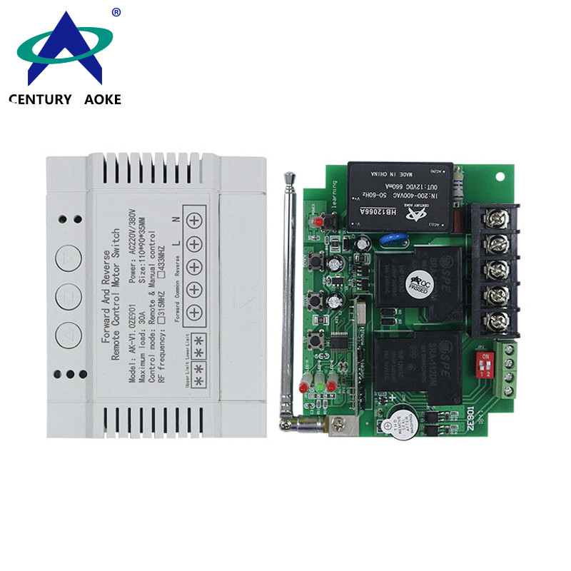 AC 220V 380V 2 Channels 1000m Motor Forward and Reverse Water Pump Power Supply Wireless Remote Controller Switch AK-ZE901 V1.0
