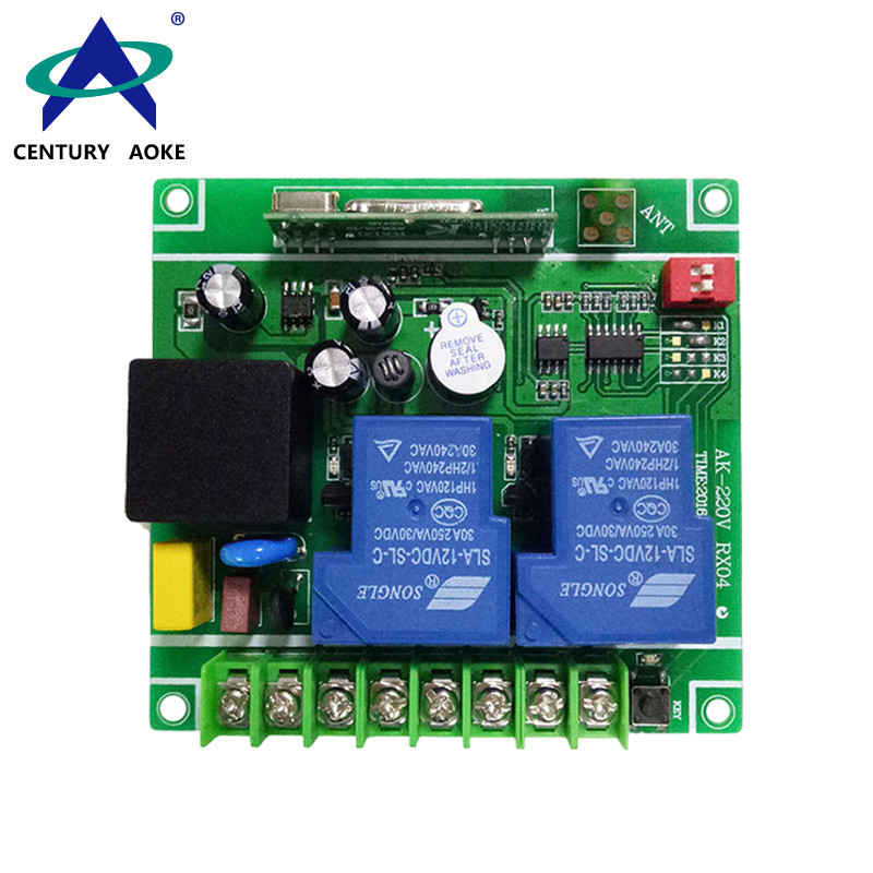 AC85-240V 2 Channels 315/433MHz 3000w High Power Learning Type Universal RF Wireless Remote Control Switch AK-220V RX04