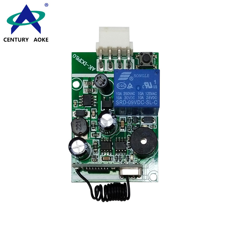 DC12V~24V 1 Channel 315/433MHz Wide Voltage Universal RF Remote Controller Switch Wireless Relay Receiver AK-DCF 6.0