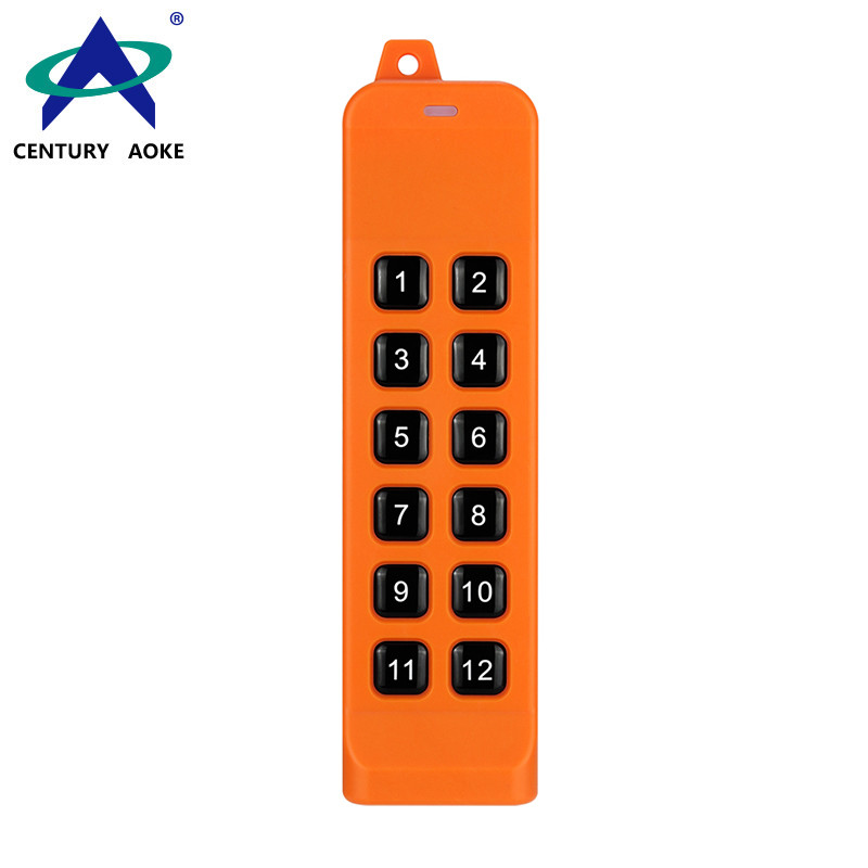 12 Buttons 868 MHz Universal Anti-interference High Power Industrial FSK Remote Control AK-K210505-12