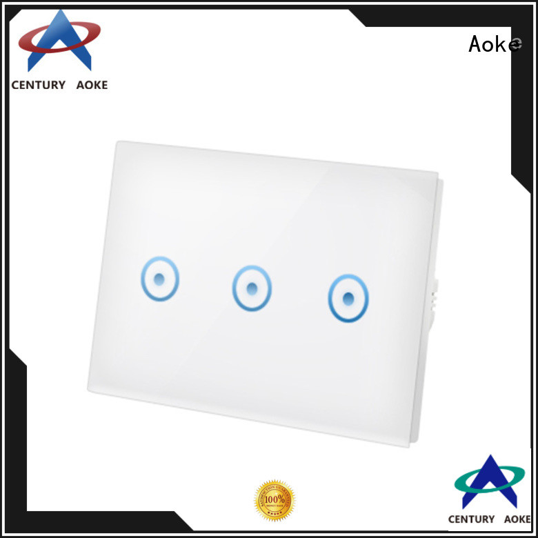 Aoke factory price wifi touch switch manufacturer for convenience