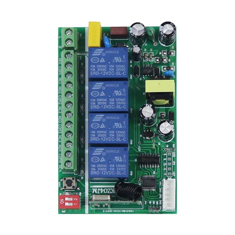 220v long four-channels RF+ manual integration wifi remote control AK-KZ04JM