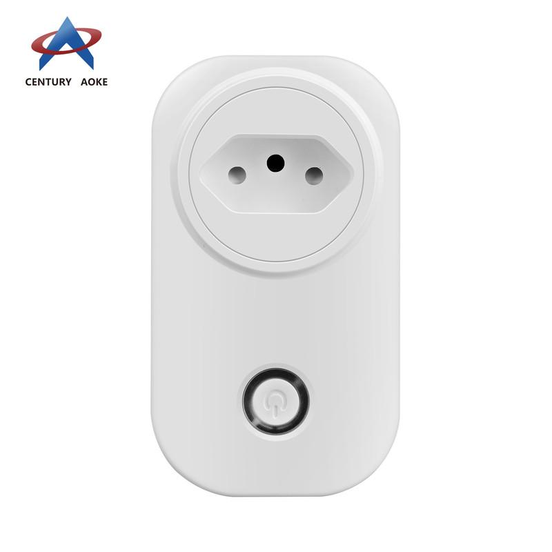 Brazilian socket smart power socket AK-P51W-03F