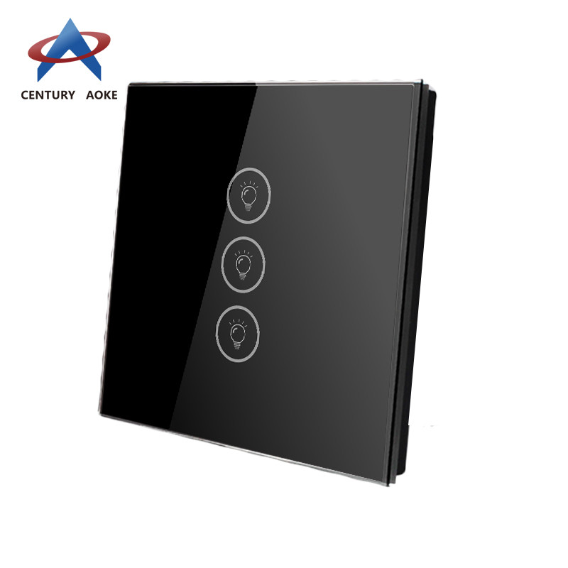 Three touch swtich capacitive touch light switch AK-PS03-01F