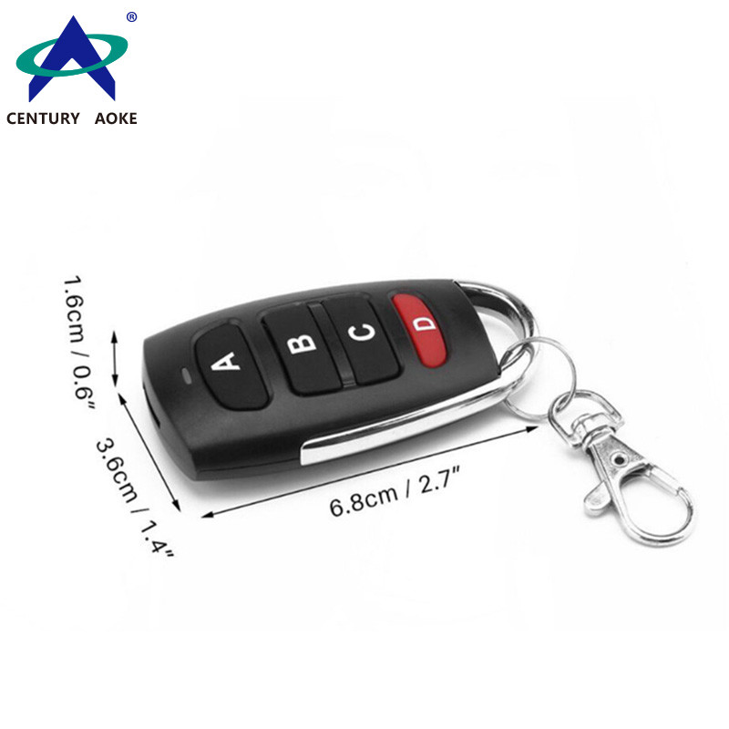 Copy metal curved 4-key wireless remote control AK-1304