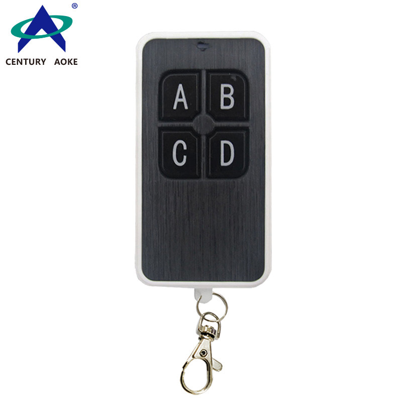 Enhanced ultra-thin brushed panel copy code 4-button type wireless remote control AK-079A-KB