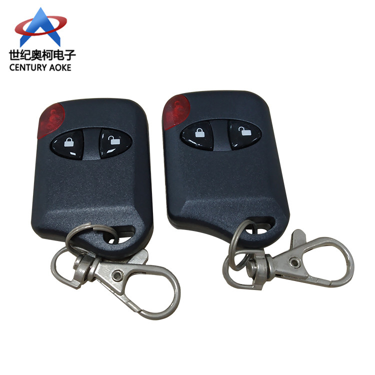 Best black plastic two buttons copy remote control with Key chain 12V 315/433 Mhz