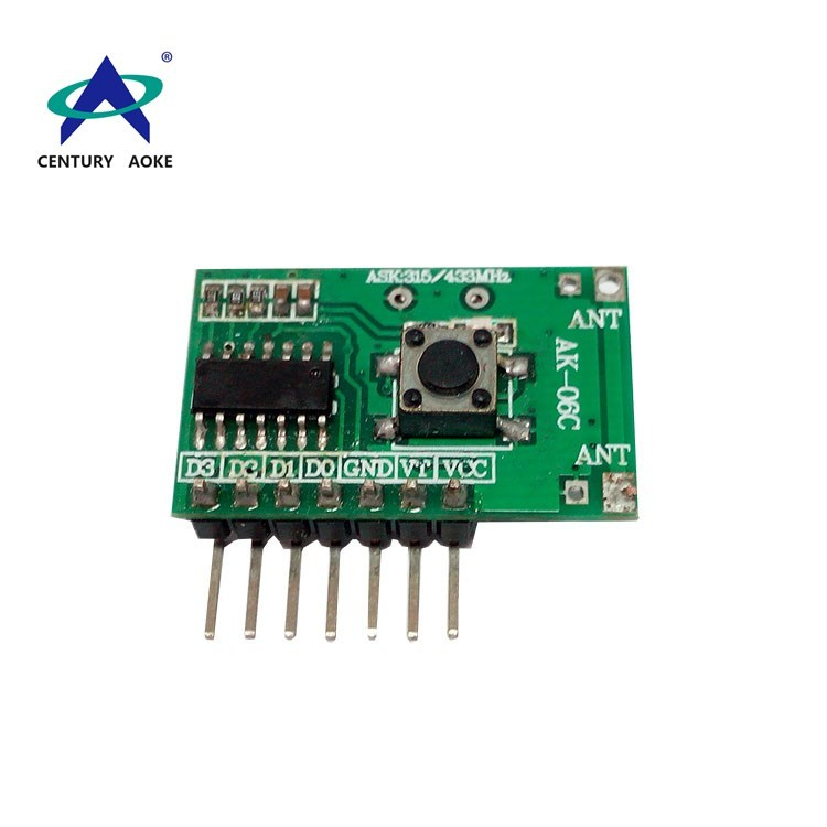 Four channels learning type superheterodyne band decoding receiver module AK-06C