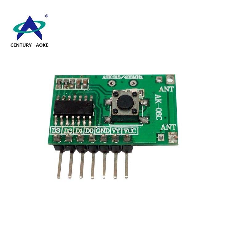 Four channels learning type superheterodyne band decoding receiver module AK-06C