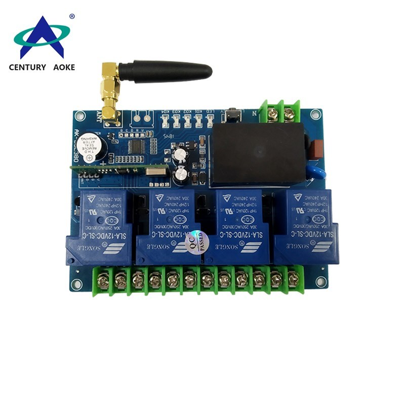 AC 110V-220V 4 channels 315Mhz/433Mhz  high power industrial wireless remote controller