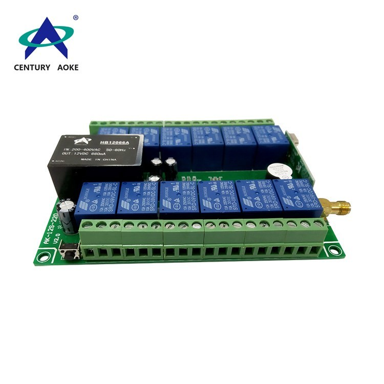 AC 220V 12 channels plastic enclosure learning type Industrial remote controller AK-12S-220 V2.0