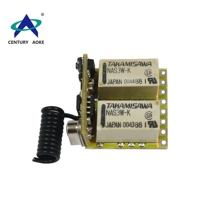 12V 315Mhz/433Mhz two channles  small wireless remote controller