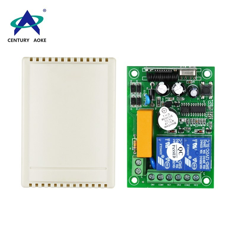AC 220 V two channels learning code remote control switch