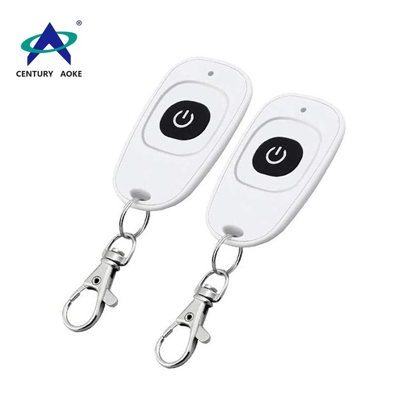 Best price white duck egg shape remote 1 button 433Mhz/315Mhz wireless remote control