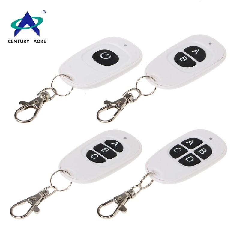 Best price white duck egg shape remote 1 button 433Mhz/315Mhz wireless remote control