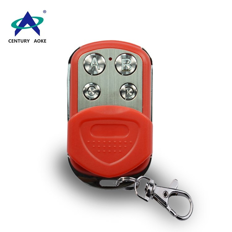 315/433MHz metal  universal RF wireless mini remote for electronics door/gate/car