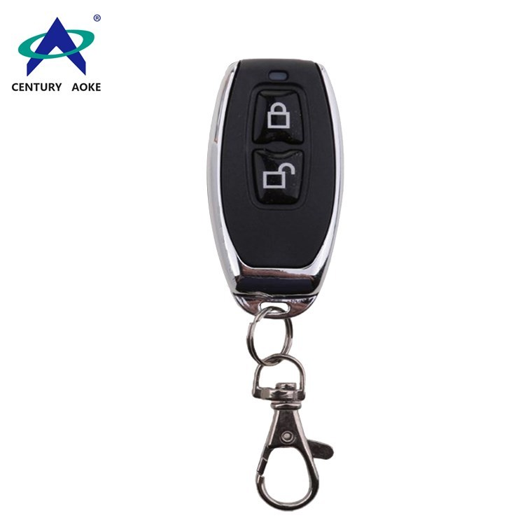 Metal frame Mini 315MHz/433MHz two button RF remote control with keychain