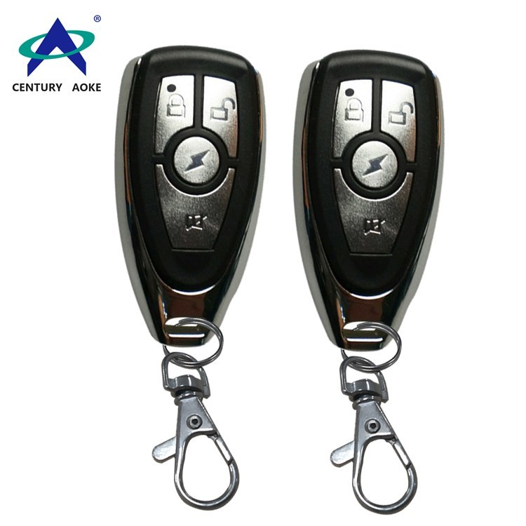 Plastic shell metal button wireless remote control with keychain