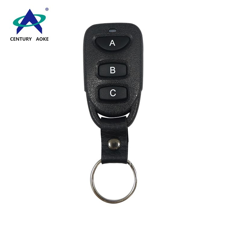 315Mhz/433Mhz black plastic shell learning code EV1527 wireless remote control