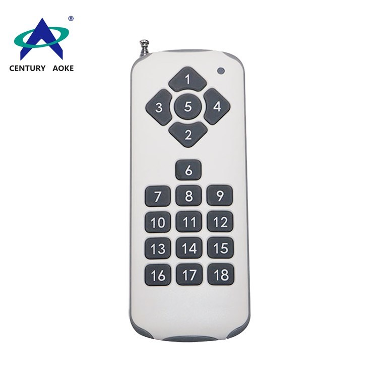 315MHz/433MHz 18 buttons high-power long-range wireless remote control