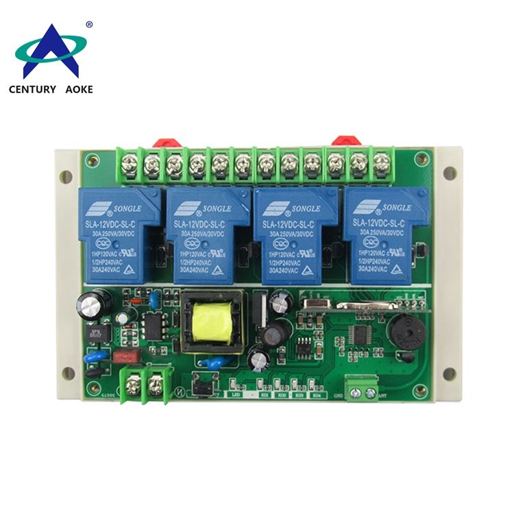 New AC 220V 4channels high-power learning type remote control switch AK-DGL220V1.0