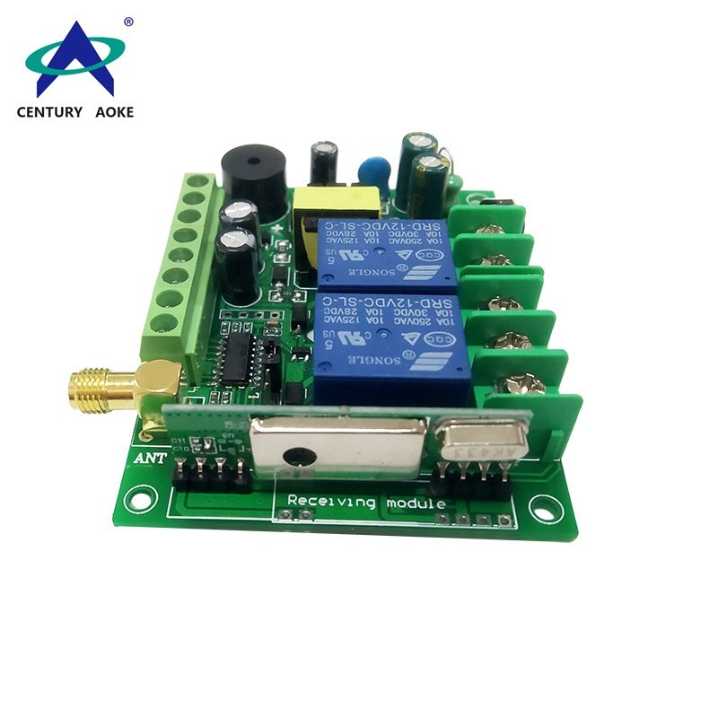 315Mhz/433MHz AC 85-260V 50/60HZ long range two channels controller