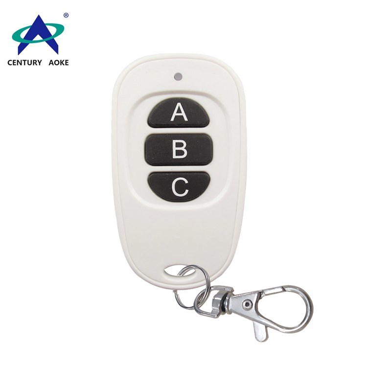 Best price white duck egg shape remote 3 buttons 433Mhz/315Mhz wireless remote control