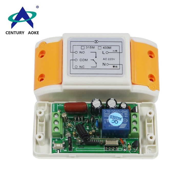 433Mhz/315Mhz AC 220V one channel wireless remote controller