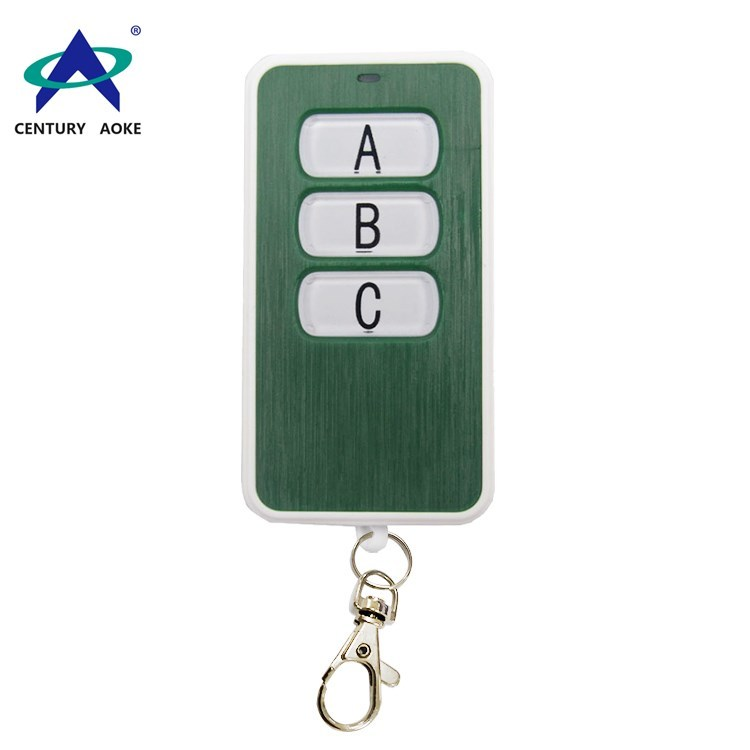 433Mhz/315Mhz three buttons wireless remote control with keychain