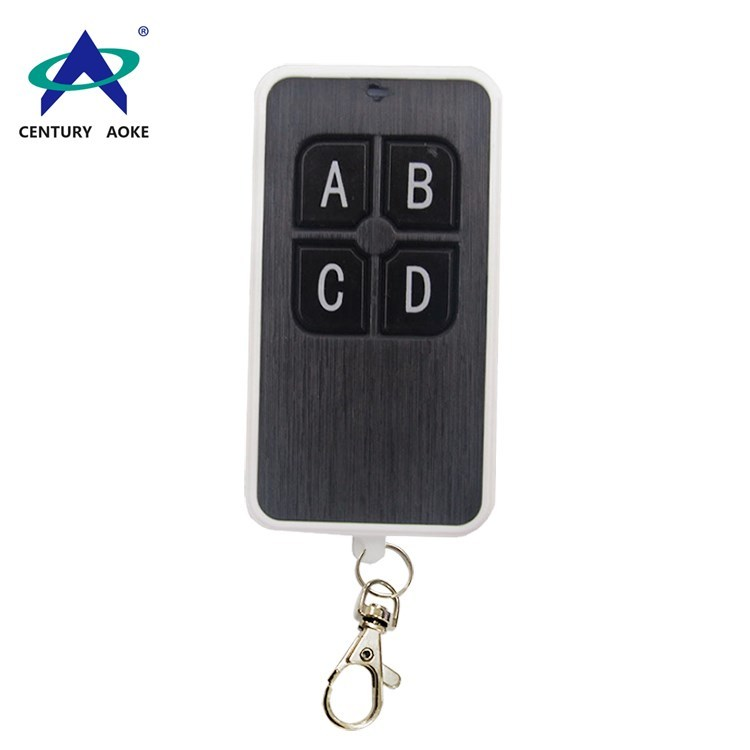 433Mhz/315Mhz four buttons wireless remote control with keychain
