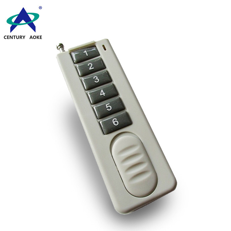 Ultra-thin six buttons wireless remote control AK-CBF-6