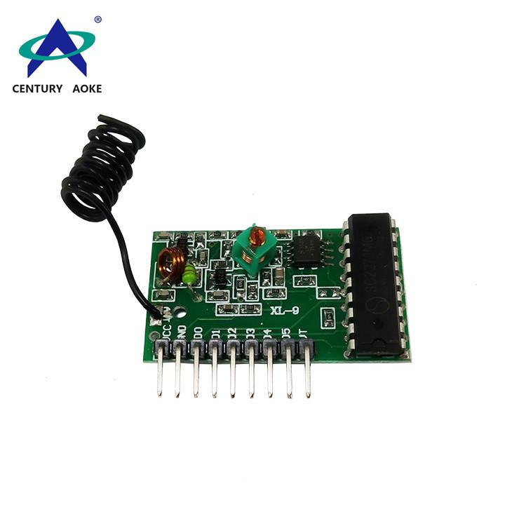 Superheterodyne receiver module with decoding