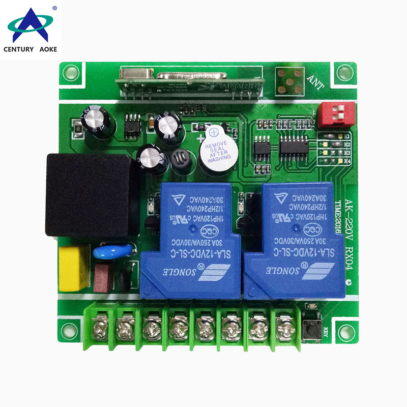AC 85-240V Learning type wide voltage universal two channels remote control switch