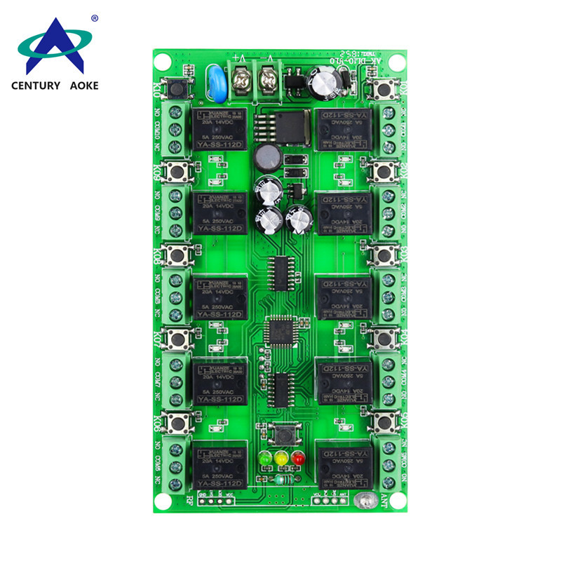 DC 12V ten channels remote control switch